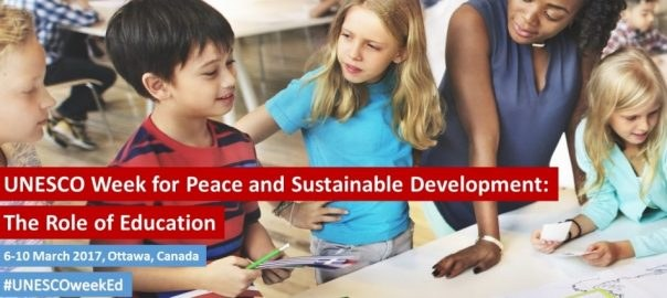 UNESCO week For Peace and Long-Term Development: The Role of Education