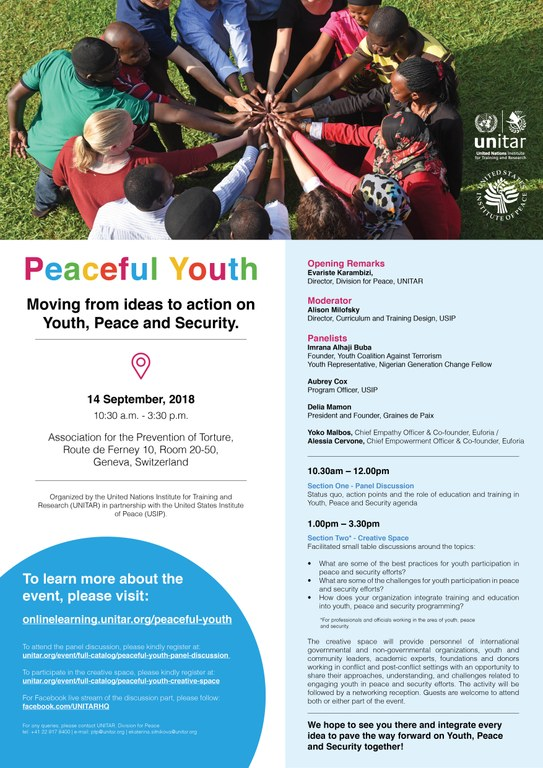Peaceful Youth - Moving from ideas to action on Youth, Peace and Security